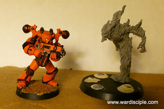 Size Comparison: Chaos Marine and Fire Demon